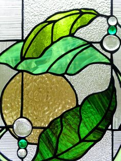 Stained glass leaves suncatcher leaves by DesignsStainedGlass