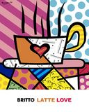 Latte Love by Romero Britto Art Print Kitchen Coffee Shop Pop Poster Modern Quilting Designs, Pop Posters, Stained Glass Quilt, Drawing Projects, Arte Pop, Fabric Painting, Love Art, Art Lessons, Fine Art Prints