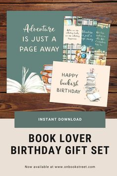 Surprise your favourite bookworm with something special! Here's a great book lover gift idea: This set includes a reading poster, 3 printable bookmarks and a bookish birthday card – that makes the perfect book lover birthday gift! Available as instant download, so it even works as a last minute gift and you don't have to worry about shipping costs or time. Have a look at the shop for these more literature themed gifts for literature lovers! | bookworm gift ideas First Birthday Cards, First Birthdays, Birthday Gifts, Reading Posters, Book Posters, Book Lovers Gifts, Book Gifts, Gifts For Bookworms, Gifts For Kids