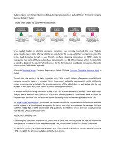 Business Setup in Dubai,Dubai Offshore Company|DubaiCompany.com