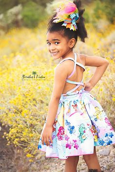 Honey's Tie-Back Dress, Maxi and Romper Sizes NB to 14 Girls and Dolls PDF Pattern