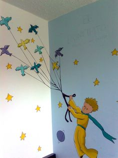 The Little Prince, by Chi-Vladi - The Little Prince, by Chi-Vladi, Informations About Der kleine Pri - The Little Prince Movie, Diy Crafts For Kids, Art For Kids, Prince Nursery, School Murals, School Decorations, Kids Corner, Room Themes, Book Illustration