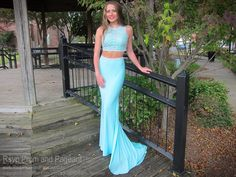 Seafoam High Neckline Two Piece Prom Dress Turquoise Homecoming Dresses, Aqua Prom Dress, Aqua Dresses, Turquoise Dress, Pageant Dresses, Mermaid Dresses, Quinceanera Dresses, Sexy Dresses, Short Dresses