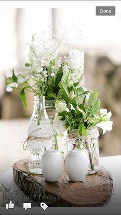 Bandscheiben mit Vasen vintage