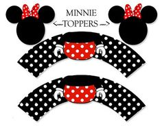 free minnie mouse  printables Mickey E Minie, Disney Mickey, Minnie Mouse Theme, Disney Printables, Mickey Party, Mickey Mouse Birthday, Disney Crafts, Mouse Parties, Cupcake Boxes