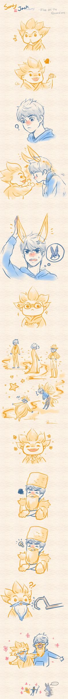 Rise Of The Guardians - Sandy and Jack by ~ispan0w0 on deviantART (Aw that is so cute)