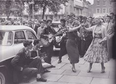 Dancing in the street, 1950s via justanotherwasteddream