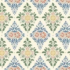 Our new kitchen wallpaper! Doll House Wallpaper, Scandinavian Wallpaper, Vintage Floral Pattern, Wallpaper, Paper Wallpaper, Stencils Wall, Original Wallpaper, Old Wallpaper, Soothing Colors