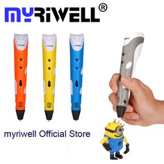 "HOT PRICES FROM ALI - Buy ""Myriwell Brand New Magic printer pen Drawing Pen With ABS filaments Printing pens for kids birthday present"" from category ""Computer & Office"" for only USD. 3d Printing Business, 3d Printing Service, Impression 3d, Big 3d Printer, Kids Birthday Presents, Mini Pc, 3d Pen, Kids Prints, Gifts For Kids"