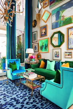 Maximalism Interior Design on the Rise? - Soho Blog - Soho Lighting Colourful Living Room, Eclectic Living Room, Living Room Decor, Colorful Rooms, Colorful Houses, Living Rooms, Interior Design Inspiration, Home Interior Design, Room Inspiration