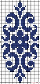 Hobilerim ve ben: 2019 Cross Stitch Borders, Cross Stitch Patterns, Knitting Patterns, Hardanger Embroidery, Cross Stitch Embroidery, Filet Crochet Charts, Crochet Angels, Border Pattern, Tapestry Crochet