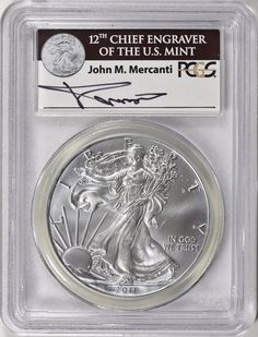 2011 $1 Silver Eagle PCGS MS-69 (Mercanti Signed Label) Silver Eagle Coins, Silver Eagles, Bullion Coins, Silver Bullion, Label, Personalized Items, Signs, Ebay, Shop Signs