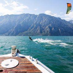 Lake Garda: always dramatic. Via Alberto Rondina by FotoFiore #kitesurfing #lakegarda #malcesine #cabrinha - ActionTripGuru.com