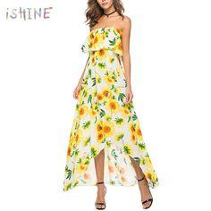 379db524a52a ... Shoulder Long Maxi Summer Dress Women Boho Prairie Chic Ruffle Beach  Sundress vestidos from Reliable Dresses suppliers on iSHINE Casual Elegance  Store