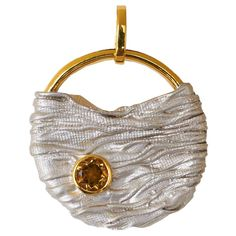 Kabirski Silver And Gold Pendant With Citrine