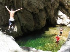Make sure to put kloofing on your list for Garden Route activities. This daredevil sport combines bouldering, abseiling, swimming and the all important cliff jumping Abseiling, Adventure Activities, Day Tours, Rafting, Outdoor Activities, South Africa, Extreme Sports, Cape Town, Bucket