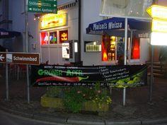 """Banner von bannerstop.com für das Bistro, Pizzeria, Cafebar """"Grüner Apfel""""."""