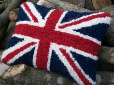 Union Jack Decorative Cushion / Pillow  Love by WoollyLakes, £35.00
