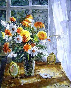 CELAL GÜNAYDIN Turkish Artist Painter Watercolor - Suluboya