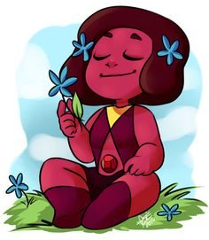 Ruby (Navy)<<< I love Navy! She's so cute! I bet she would be great at comforting Jasper... Steven Universe Navy, Universe Art, Chibi, Planets, Cartoon Network, Garnet, Images Of Drawings, Universe, Smoky Quartz