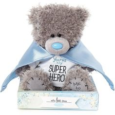 "Official Me to You Bear Bear measures ""You're my Superhero"" teddy Grey Teddy Bear, Teddy Bear Toys, Duck Toy, My Superhero, Pet Pigs, Toy Puppies, Soft And Gentle, Tatty Teddy, Kids Boxing"