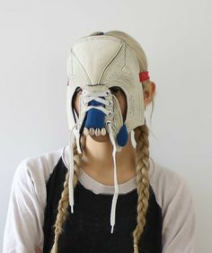 shoe, mask