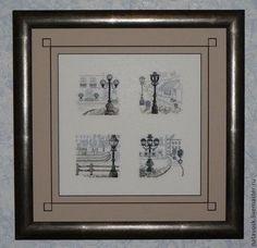 Город ручной работы. Ярмарка Мастеров - ручная работа Вышивка крестом Фонари от Permin. Handmade.