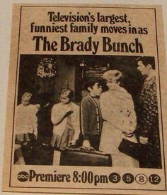 September 26, 1969 Old Tv Shows, Best Tv Shows, Favorite Tv Shows, Family Tv, Family Humor, Eve Plumb, The Brady Bunch, Childhood Tv Shows, Vintage Television