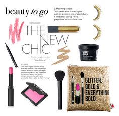 """Beauty to go: Gold and pink"" by briesepb ❤ liked on Polyvore featuring beauty, Sephora Collection, Bite, Le Métier de Beauté, NARS Cosmetics, Forever 21 and Urban Decay"