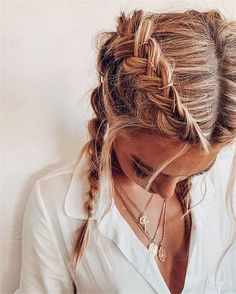 Les meilleures coiffures à cacher - Frisuren, Zöpfe, geflochtene Haare Box Braids Hairstyles, Greasy Hair Hairstyles, Cool Hairstyles, Hairstyle Ideas, Formal Hairstyles, Wedding Hairstyles, Hairstyles Haircuts, Braided Hairstyles For Short Hair, Summer Hairstyles For Medium Hair