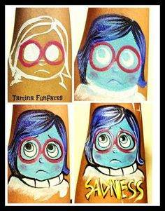 inside out + face painting - Cerca con Google