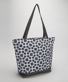 Look what I found on #zulily! Black & White Geometric Tote Bag #zulilyfinds