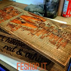 #Maniglia #personalizzata di #legno con #laser