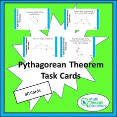 This set of task cards is made up of 10 sets of 4 cards. Each set emphasizesa…