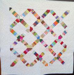 Toalha de patchwork feita por mim.