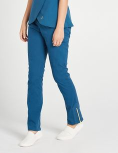 The Moto Pant Caribbean Blue