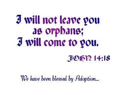 "Adoption is an illustration of the Gospel. ""Adoption Anxiety"": http://www.gracefamilybaptist.net/voddie-baucham-ministries/blog/adoption-anxiety-reprint-2009-04/"