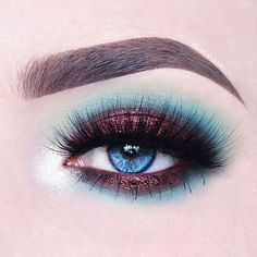 Beautiful eye make-up art - Beautiful eye makeup art - Eye Makeup Art, Colorful Eye Makeup, Eye Makeup Tips, Makeup Goals, Makeup Inspo, Makeup Inspiration, Beauty Makeup, Shark Makeup, Blush Makeup