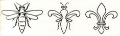 Facing one way, the Fleur de Lys is a Bee. Facing the other way, it is a blossom. The symbol contains the balance of both in perfect harmony. #bees #symbols