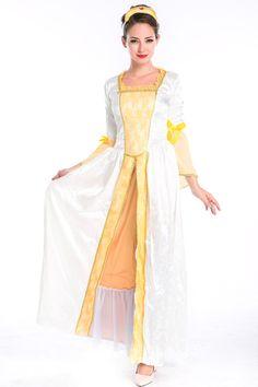 White Royal Womens Retro Princess Halloween Costume #2014 #Cute #Halloween #Costumes #Fashion #Women #Diy #Homemade Creative #Cheap #Sexy Halloween Costumes For Teens. pinkqueen.com