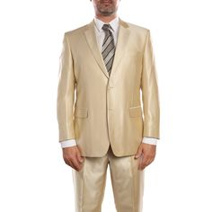 Verno Baldino Men's Sharkskin Classic Fit Two-Piece Suit