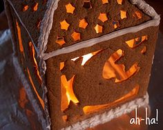 The Daring Bakers' Challenge: Gingerbread House Christmas Tea Party, Christmas Farm, Christmas Eve Dinner, Christmas Gingerbread, Winter Christmas, Winter Holidays, Xmas, Lantern Centerpieces, Lanterns