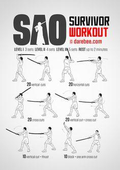 SAO Survivor workout.
