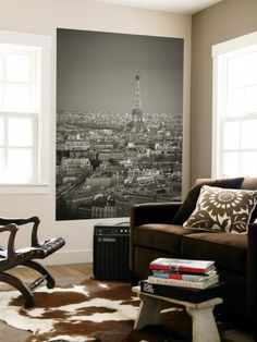 Eiffel Tower and Skyline of Paris, France Wall Mural