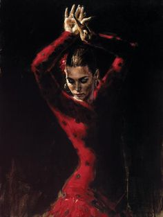 Love this lady dancing.Flamenco...do not know who the  artist  is? | Fab Fiona