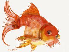 Fancy goldfish #painting #paper53
