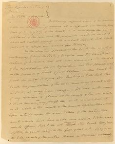 In 1831, the U.S. Supreme Court ruled that the Cherokee Nation was not a foreign nation and therefore ruled that the Supreme Court did not have jurisdiction. The result was that the Cherokee Nation's land cessions were allowed to stand, and they were denied the right to sue in federal court to prevent their removal from tribal lands. This manuscript is Justice Smith Thompson's retained copy of his dissenting opinion, he wrote upholding the claims of the Cherokee Nation.