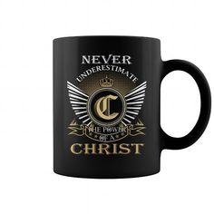 8fa175fa7e2 CHRIST Mugs - Never Underestimate The Power Of a CHRIST Name Mugs