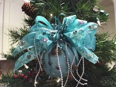How to make a Ariel Christmas Ornament Ball Tutorial - YouTube