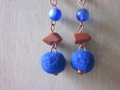Alpaca fiber, copper stone, glass bead www.etsy.wellcriated.com
